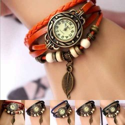 Reloj pulsera vintage de cuero